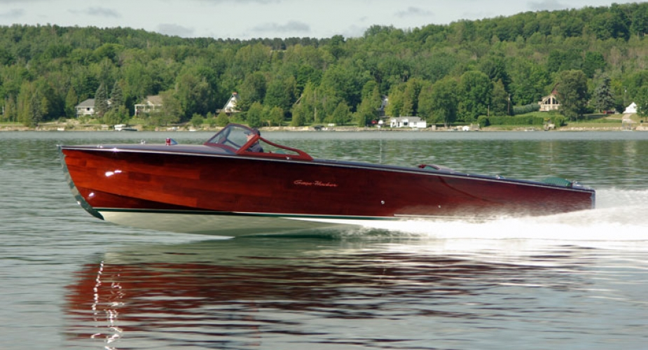 Gage-Hacker Runabouts on the water.