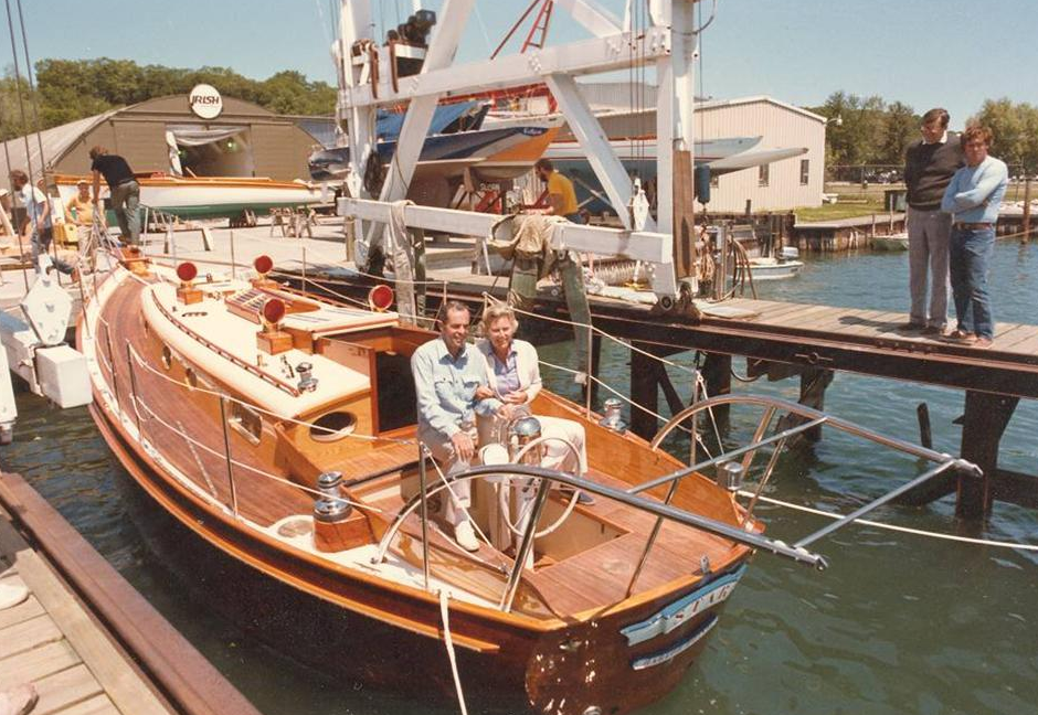 Fred and Nancy Ford at the helm of Star