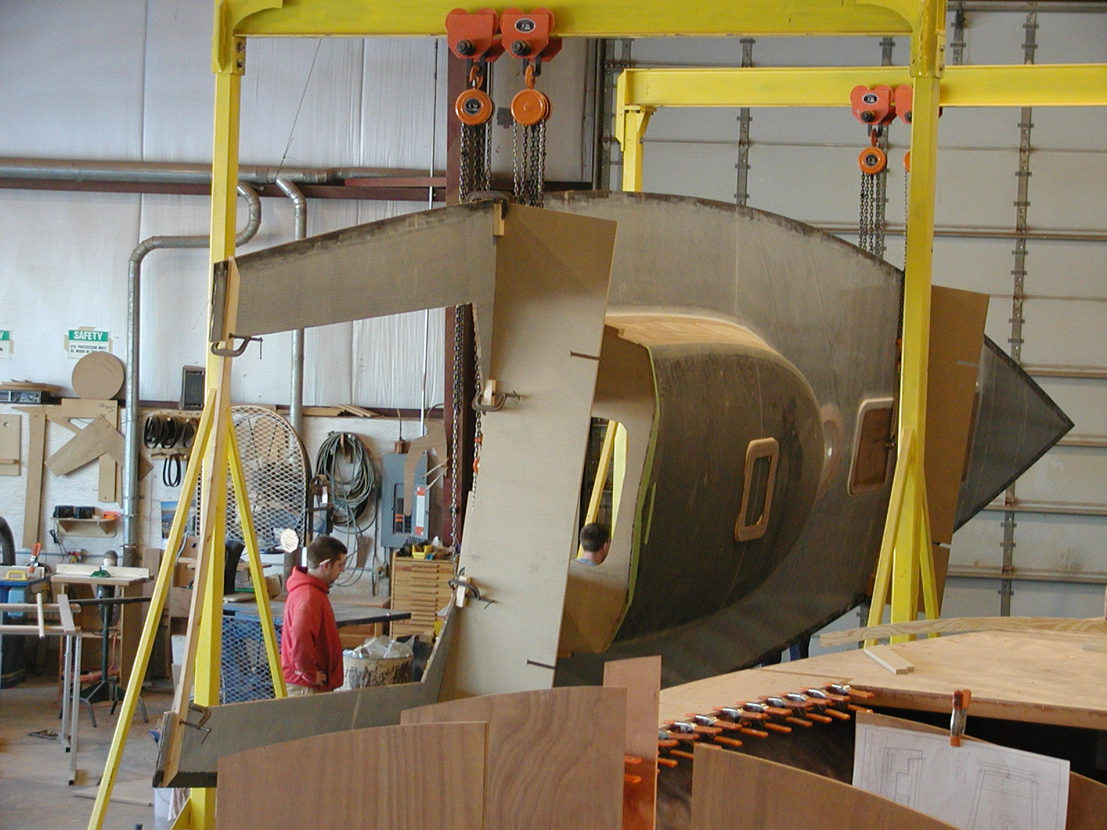 Rolling the hull of St. Barbara