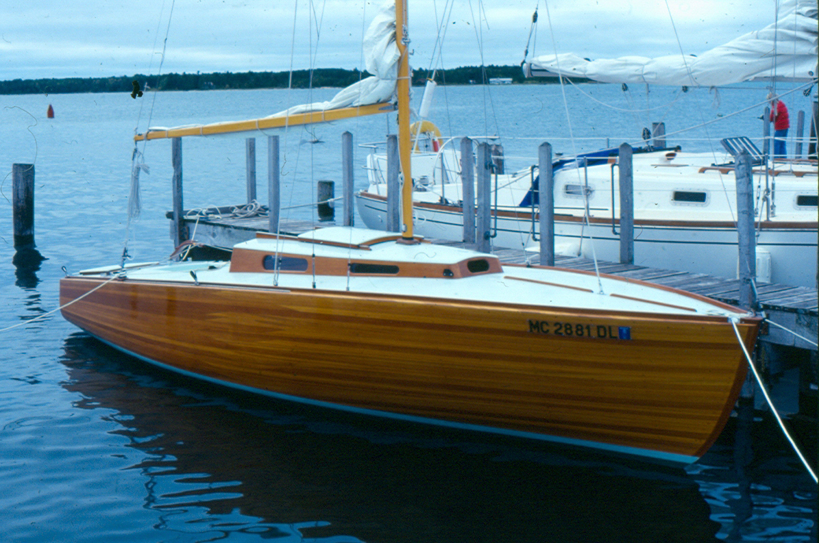 Feather. First boat built by Steve Van Dam for Steve Van Dam