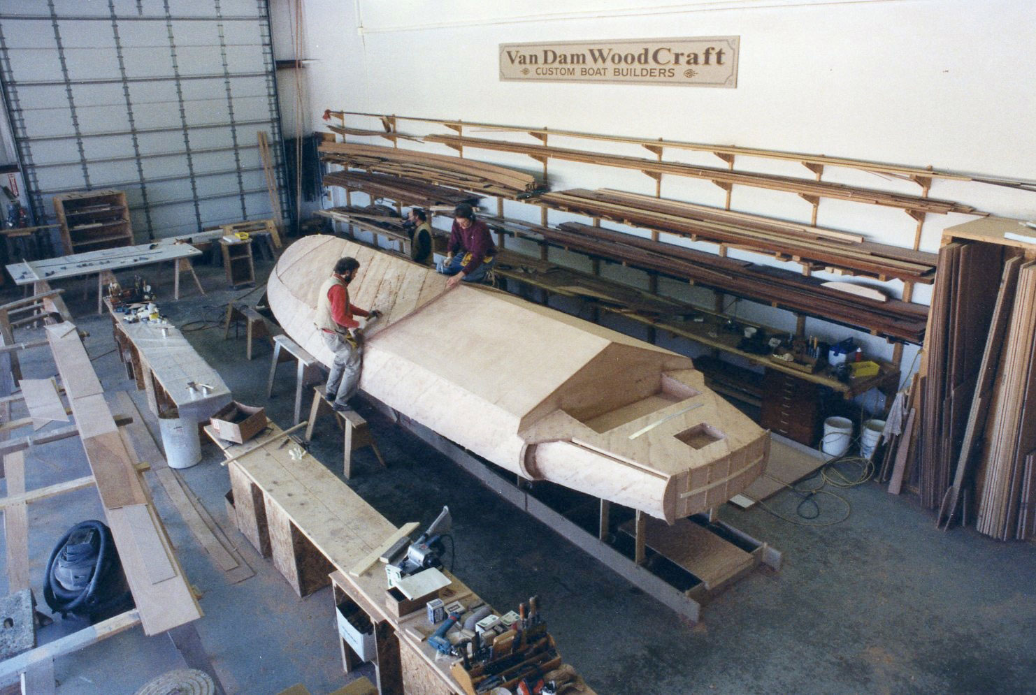 Second layer of planking being affixed to Alpha Z hull