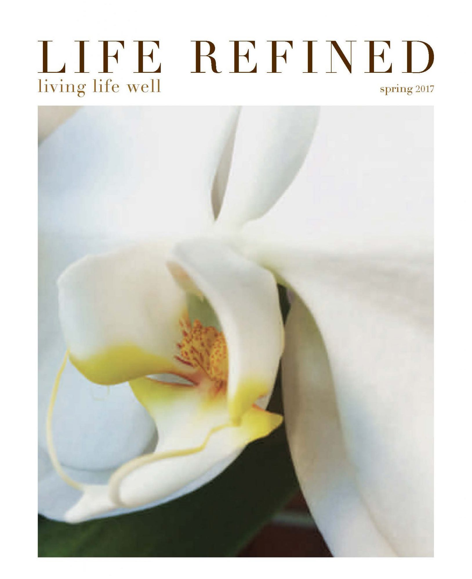 Cover of Life Refined magazine.