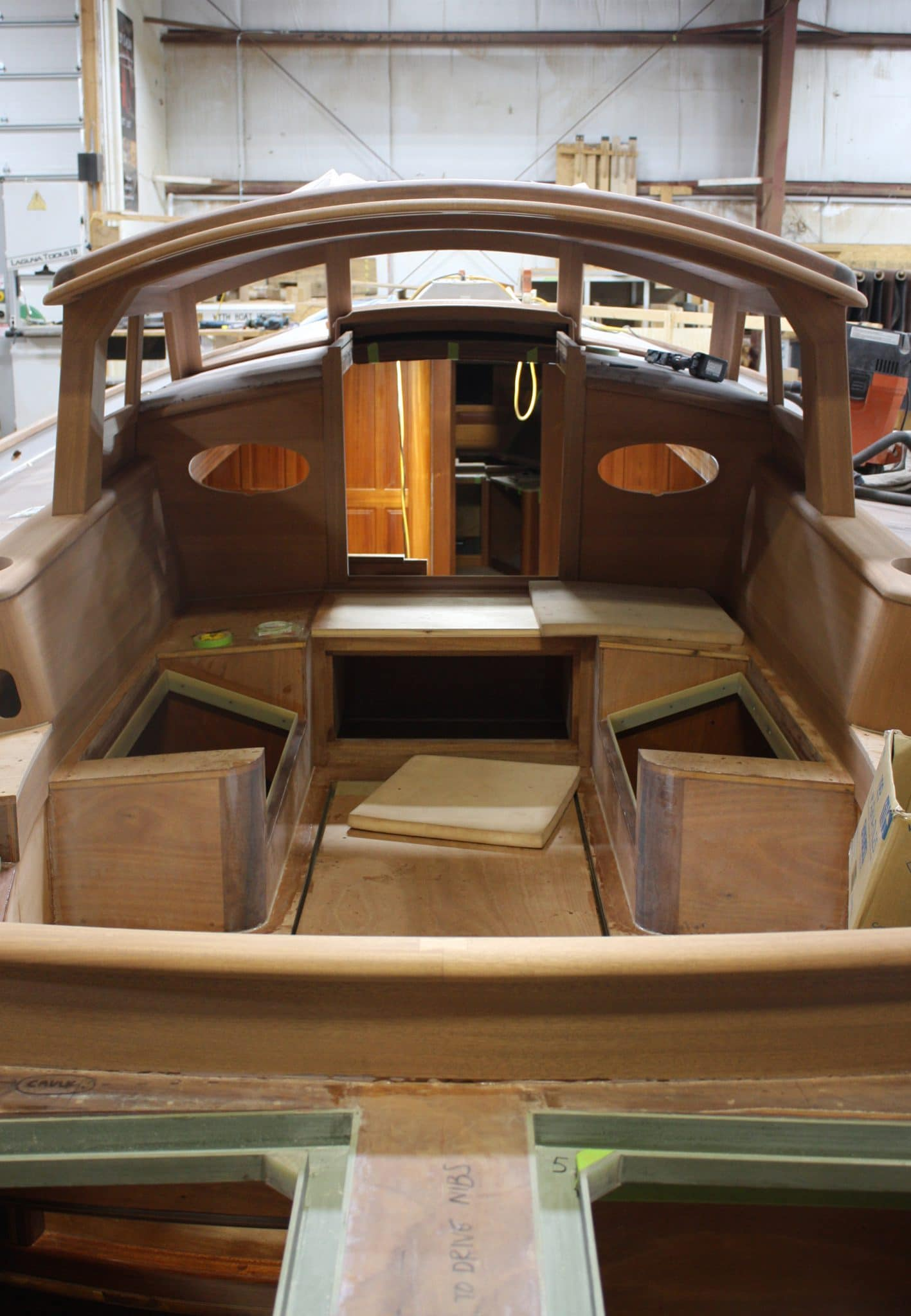 Interior elements of Italmas being assembled