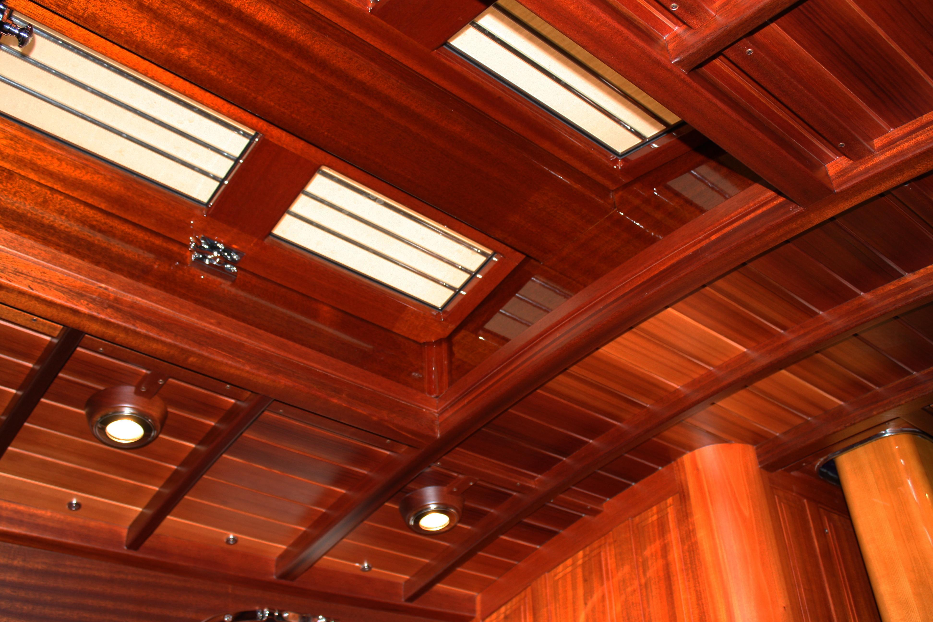 Beautiful interior mahogany finishes on Italmas