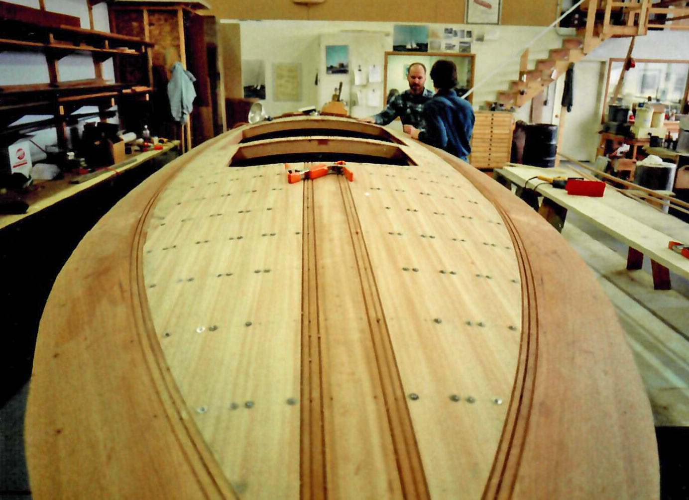 Fully assembled deck on Big Mouth Charle