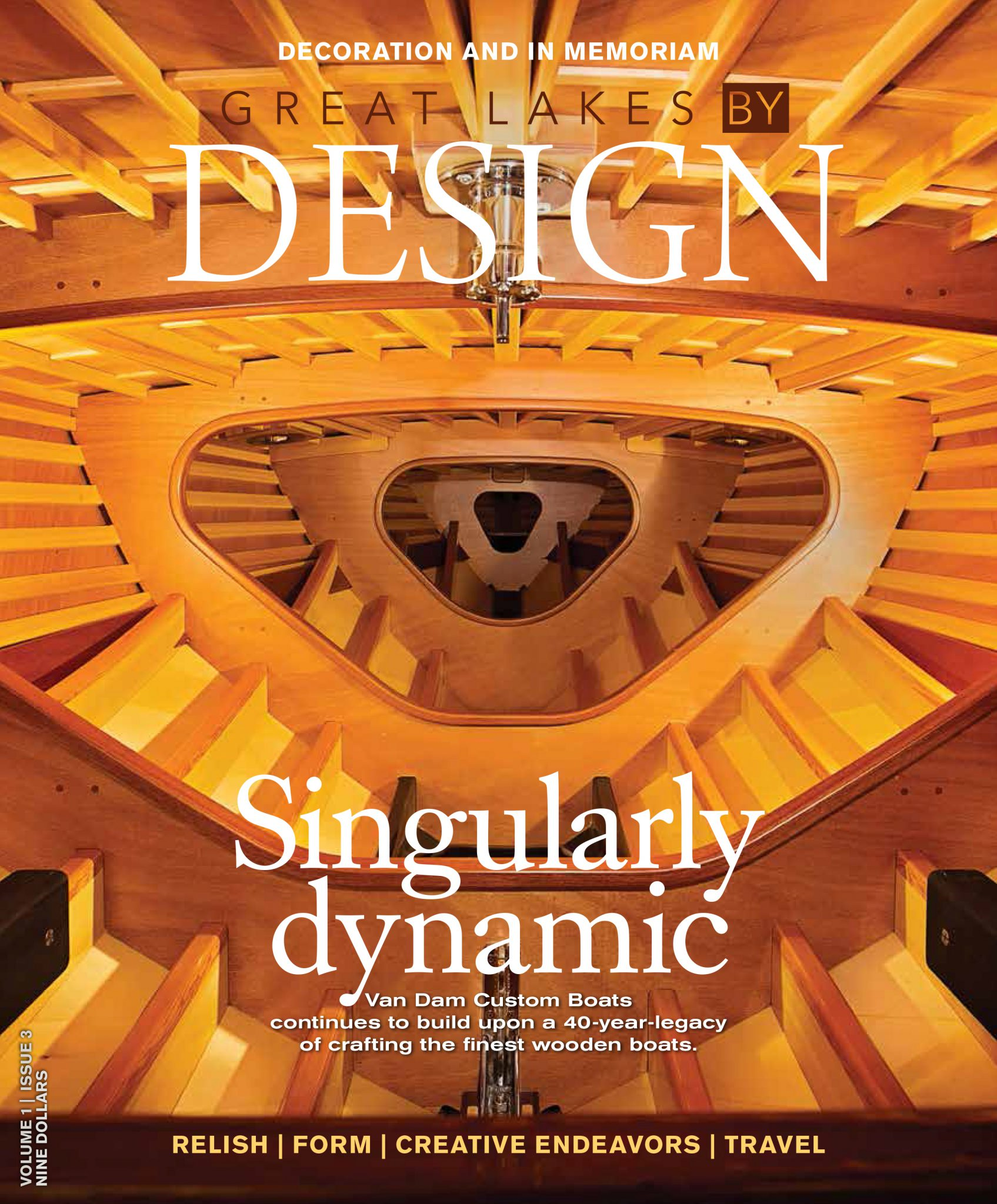 Cover of Great Lakes by Design magazine.