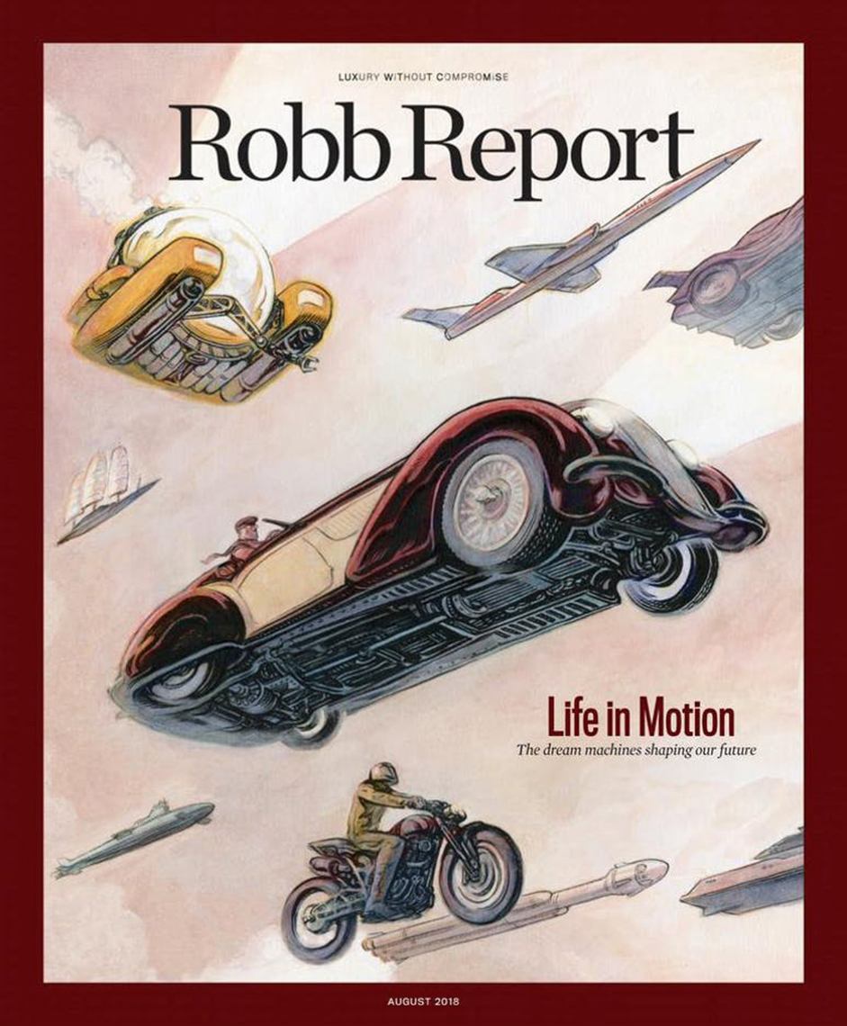 Cover of Robb Report magazine.
