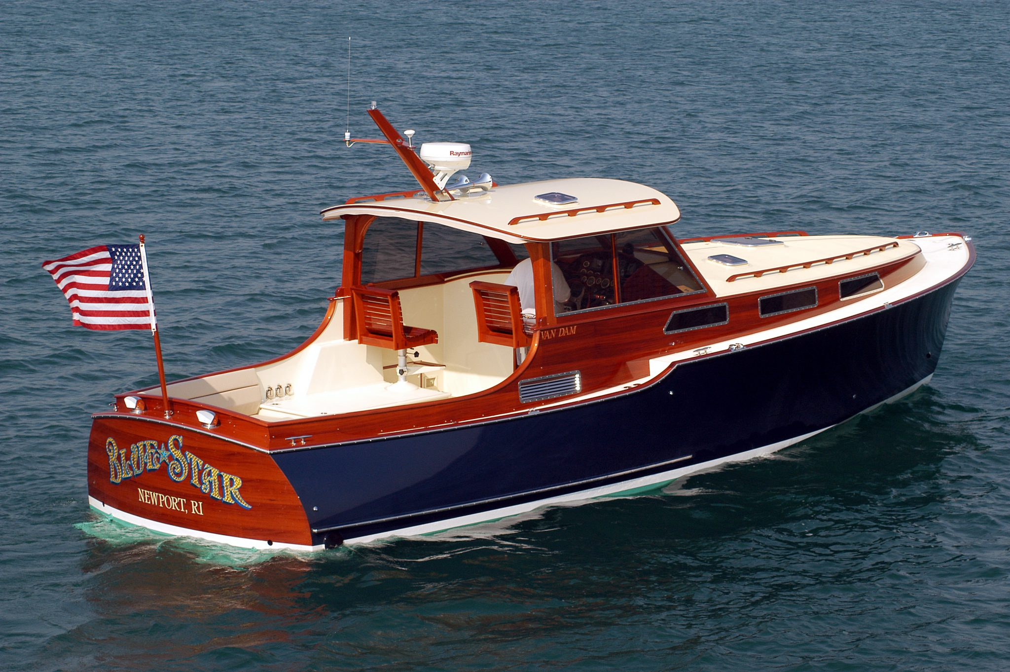Blue Star offers traditional motor yacht styling