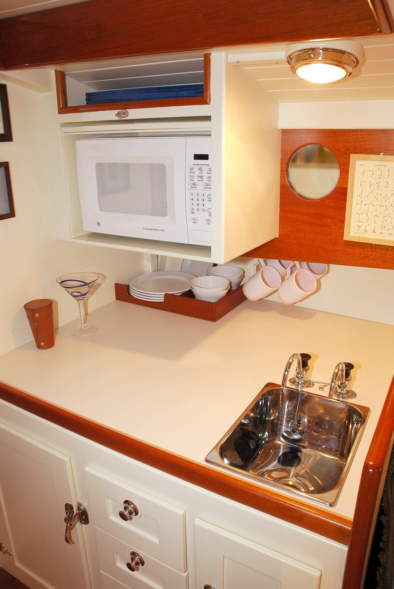 Clean galley lines on My Three Sons