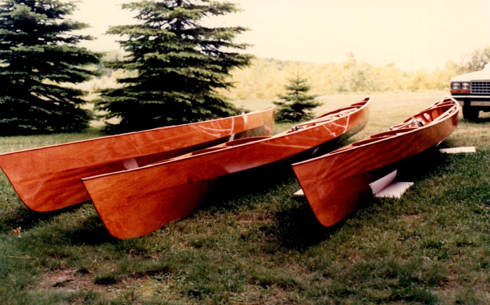 Gorgeous mahogany pulling boats